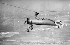 I think this is like the one in the Pippi Longstocking movie: Kellett KD-1, 1934, autogyro