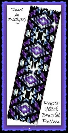 IMARI - is an ODD COUNT PEYOTE STITCH CUFF/BRACELET pattern that has been designed for the use of Delica beads #11. This pattern has not been tested