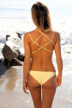 Frankies Bikinis Kaia in yellow
