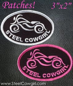 Steel Cowgirl Classic Bike Motorcycle Patch