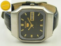 MECHANICAL SEIKO 5 AUTOMATIC JAPANESE MENS D/D WATCH~WARRANTY ON ALL PRODUCTS~ #Collectible