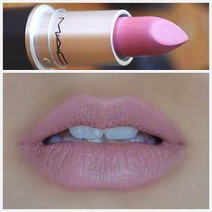 MAC matte-finish lipstick in PINK PLAID
