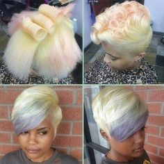 Looks Like Cotton Candy! - http://www.blackhairinformation.com/community/hairstyle-gallery/natural-hairstyles/looks-like-cotton-candy/ #NATURALHAIRSTYLES