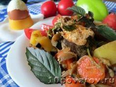 Хек с овощами в мультиварке Potato Salad, Potatoes, Meat, Chicken, Ethnic Recipes, Food, Potato, Meals, Cubs