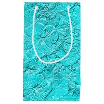 Sculpted Petunias Aqua-Small Gift Bag #zazzle #giftbags #aqua #petunias #sculpted  http://www.zazzle.com/zazzleparty?rf=238170457442240176