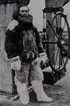 Robert Peary in the Arctic. Under order to observe tides for C&GS during North Pole expedition.