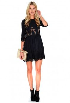 Vavery Broderie Anglaise Skater Dress - dresses - Missguided