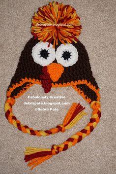 CROCHET TURKEY HATS - GOBBLE GOBBLE. Thanksgiving and Fall