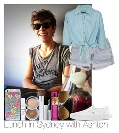 """""""Lunch in Sydney with Ashton"""" by irish26-1 ❤ liked on Polyvore featuring Levi's, Vans, PurMinerals, Ray-Ban, Yves Saint Laurent, women's clothing, women, female, woman and misses"""