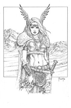 Annalissa, Northern Warrior by MitchFoust.deviantart.com on @DeviantArt