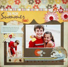 "Sweet ""Beach Summer Fun"" Wave Searcher Scrapbooking Page...Miss Fancy Pants."