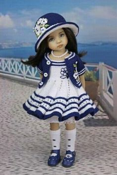 Crochet Dolls, Outfit Sets, Harajuku, Ideias Fashion, Knitting Patterns, Hipster, Hats, Clothes, Ideas