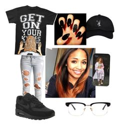 Bum day by solayarobinson on Polyvore featuring polyvore, fashion, style, Lee, October's Very Own, Linda Farrow and NIKE