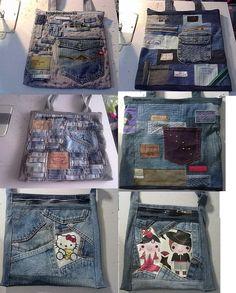 Ideas de bolsos reciclando tejanos