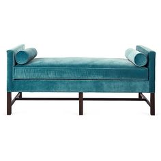 Andrew Velvet Day Chaise Calypso Blue Daybeds ($2,199) ❤ liked on Polyvore featuring home, furniture, sofas, blue chaise, blue velvet sofa, recycled furniture, blue velvet couch and handcrafted furniture