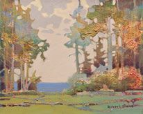 Robert Genn, artist, original landscape paintings at White Rock Gallery Offskip, Prevost