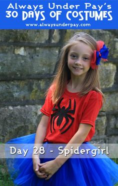 Day 28 – Spidergirl DIY Halloween Costume Tutorial | Always Under Pay's 30 Days of Costumes