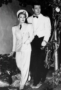 "#MarleneDietrich & #JohnWayne on the set of ""Seven Sinners"" 1940 #MovieClips"