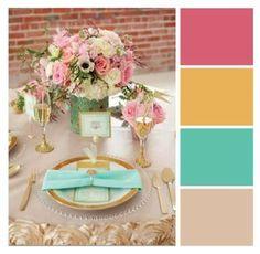 Resultado de imagem para paleta de cores para casamento