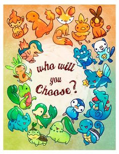 Which Pokemon starter will you choose? by *michellescribbles on deviantART