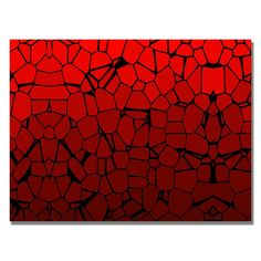 'Crystal Reds' Painting Print on Canvas