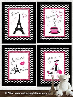 Paris Decor Girl Room Art France  Paris Wall by WeLovePrintableArt, $20.00