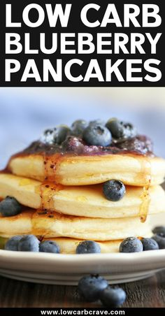 Best Homemade Low Carb Blueberry Pancakes Recipe (Easy Keto & Sugar-Free). The best healthy, gluten-free breakfast pancakes that are light and fluffy! Made with almond flour and a few natural ingredients.