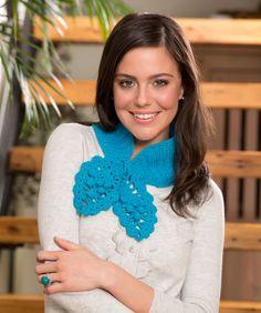 Pineapple Keyhole Scarf: free #crochet pattern