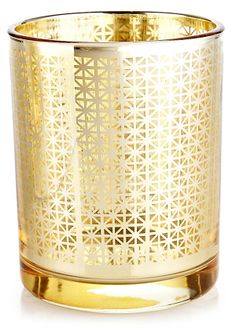 One Kings Lane - Impress Your Guests - S/3 Arabesque Votives, Gold