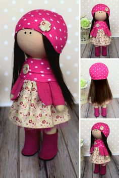 Handmade Shop, Etsy Handmade, Handmade Products, Red Dolls, Clothes Crafts, Doll Clothes, Soft Dolls, Fabric Dolls, Creative Gifts