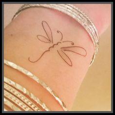tatuaje de libélula tatuaje temporal tatuaje por SharonHArtDesigns