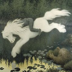 The Kelpie is a supernatural shape-shifting water horse from Celtic folklore that is believed to haunt the rivers and lochs of Scotland and Ireland. www.thewarmbloodhorse.com