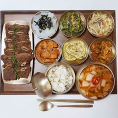 Asian Recipes, Real Food Recipes, Yummy Food, Healthy Recipes, Korean Street Food, Korean Food, K Food, Food Porn, Food Platters