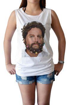 zach galifianakis shirt  women's singlet Tank Top by maibork555, $15.99