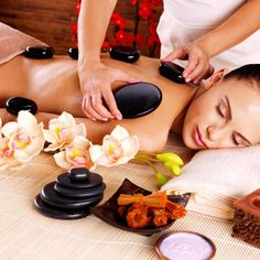 Hot stone massages available at the best spa in Beverly Hills, The Spa on Rodeo.