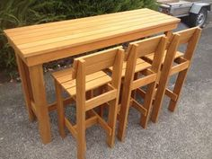 Welcome to the Outdoor Furniture Man  Makers of standard and custom build quality outdoor furniture    Free delivery is Auckland area only    Table and 3 Stools...