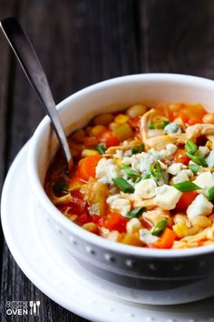 Buffalo Chicken Chili | gimmesomeoven.com (without the blue cheese)