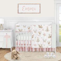 Gender Neutral Linen Baby Bedding-Crib Set and Nursery Decor-Payton Linen Crib Quilt and Baby Blanket