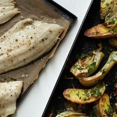 Roast Trout and Vegetables with Horseradish Vinaigrette Recipe