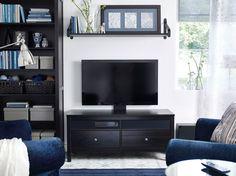 "HEMNES/UPPLEVA black-brown TV bench including 40"" LED TV"