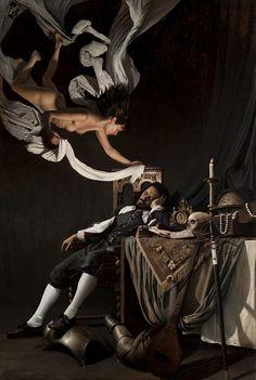 """Mikel Olazabal -  """"El sueño del caballero II ( Inspiration )"""" 2012, Oil on Canvas"""