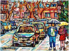 Carole Spandau - Rainy day stroll Verdun Street