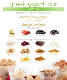 Yogurt Bar - Menu - Shake Smart
