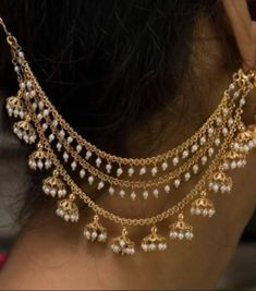 Die Silberschmuck Boot - All You Need to Know Indian Jewelry Earrings, Indian Jewelry Sets, Jewelry Design Earrings, Gold Earrings Designs, Indian Wedding Jewelry, Gold Jewellery Design, Ear Jewelry, Wedding Jewelry Sets, Bridal Jewelry