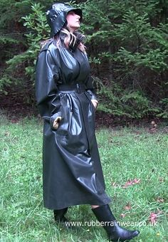 What's better than a sexy babe in her Rubber Rainwear enjoying the outdoors?