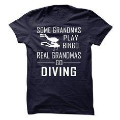 Grandma Diving T Shirt
