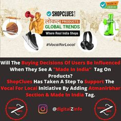 A Good Way To Support the Vocal For local Initiative by ShopClues.. How Influenced the Buyers Decision Will be After Seeing a Made in India tag?  Comment Below & Share this Investment With Your friends!  Follow us 👉@digitalzinfo 👈 Follow us 👉@digitalzinfo 👈 Follow us 👉@digitalzinfo 👈  #business #indian #entrepreneurship #entrepreneurlife #thestartuply #shopclues #madeinindia #atmanirbhar #startupbusiness #vocalforlocal #vocalforlocalindia #entrepreneurship #inspiration #smallbusiness… Startup News, Start Up Business, Entrepreneurship, Investing, Tech, Indian, Friends, How To Make, Life