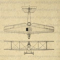 1917 Fighting Biplane Graphic Digital Download Antique Airplane Image Printable Vintage Clip Art. High quality digital image. This vintage printable digital illustration works well for fabric transfers, printing, papercrafts, tea towels, tote bags, t-shirts, and other great uses. Real printable antique art. This digital graphic is high quality, large at 8½ x 11 inches. Transparent background version included with all images.