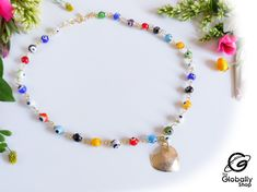 Collar, Beaded Necklace, Etsy, Jewelry, Products, Gold Wire, Body Lotion, Heart Shapes, Charms