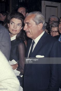 Jackie Onassis and Stas Radziwill during 'Company' Opening Night on Broadway at The Alvin Theater in New York City, New York, United States.
